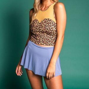 •nwt• Kortni Jeane ribbed milky blue short skirt